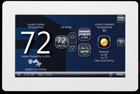 The Lennox iComfort WIFI Touchscreen Thermostart