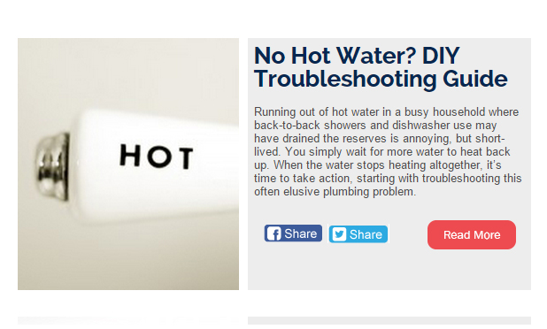 September Newsletter - No Hot Water? DIY Troubleshooting Guide, The ABCs of Back to School Comfort, and MORE
