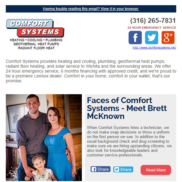 February Newsletter - Faces of Comfort System, Four Water Heater Components You Need To Check Today and MORE