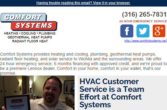 June Newsletter - HVAC Customer Service is a Team Effort at Comfort Systems, and MORE