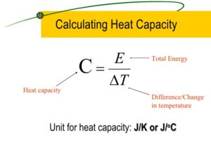 How to calculate heat capacity